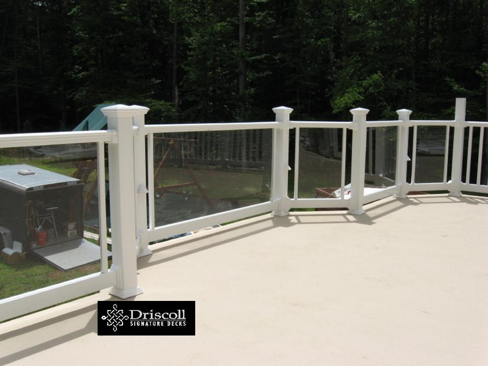 We Also Added Clearview Railings So The View To Their Beautiful Yard Would  Not Be Obstructed. This Fiberglass Deck Job Is ...